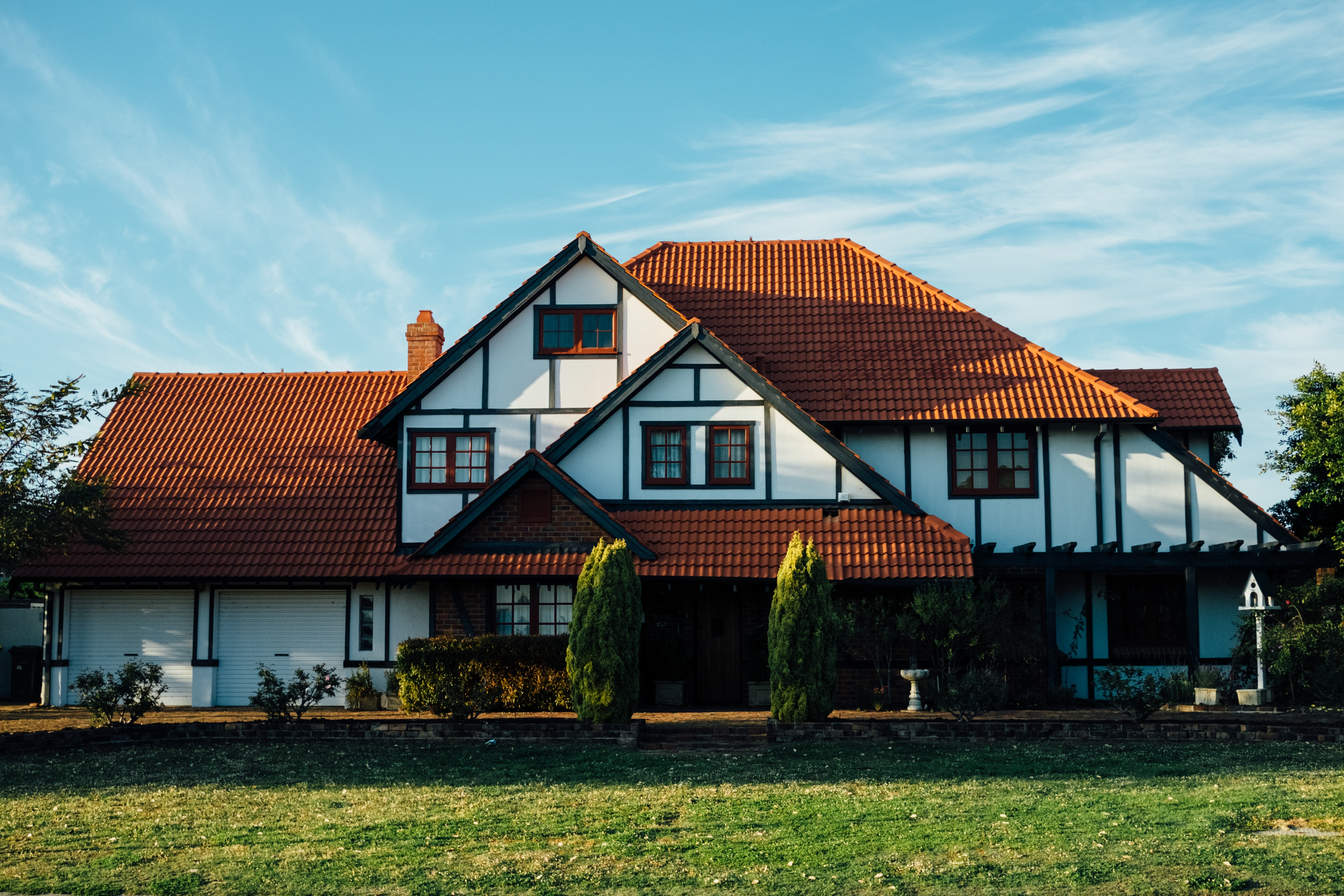 Upscale Home Red Tile Roof
